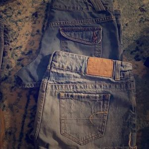 2 pairs of American Eagle size 8 jean shorts